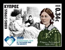 Cyprus 2020 Mih. 1435 Medicine. International Year Of The Nurse And Midwife. Florence Nightingale MNH ** - Ungebraucht