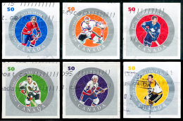 Canada (Scott No.2086a-f - Étoiles De La / NHL / All Stars)+ (o) Série / Set - 1952-.... Règne D'Elizabeth II
