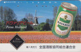 Télécarte JAPON / 110-117193 - BIERE BAVARIA & MOULIN - BEER & MILL JAPAN Phonecard - BIER - CERVEZA - 899 - Werbung