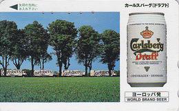 Télécarte JAPON / 110-011 - BIERE CARLSBERG / Denmark - BEER JAPAN Phonecard - BIER - CERVEZA - 900 - Werbung