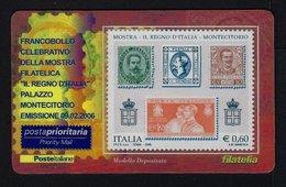 """2006 ITALIA """"MOSTRA IL REGNO D'ITALIA / MONTECITORIO"""" TESSERA FILATELICA - 6. 1946-.. Republic"""