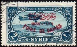 Syrie Obl. N° PA  69 C - Surcharge Foire De Damas Sur 2pi Bleu-vert - Syrie (1919-1945)