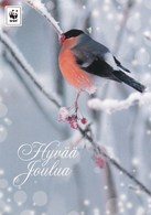 Postal Stationery - Bird - Bullfinch In Winter Landscape - WWF Panda Logo 2017 - Suomi Finland - Postage Paid - Finland
