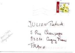 BELGIQUE 2005  / FLEURS / CHRYSANTHEME  YT 3432 Sur Enveloppe Entière Voyagée Illisible !! - Belgique