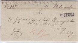 Brief Aus ...nzuzyi 25.3.(1852) Nach Lemberg - Poland