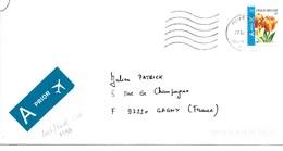 BELGIQUE 2005  / FLEURS  / 2 Tulipes Orange   YT 3391 Sur Enveloppe Entière Voyagée Illisible !! - Belgique
