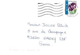 BELGIQUE 2006  / FLEURS  / 2 Tulipes Violette YT 3549 (ND En Bas)   Sur Enveloppe Entière Voyagée 2007 - Belgique