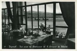 PHOTO :  Liban Beyrouth Vue Prise Du Restaurant De L'Aéroport De Khaldé ,Airport, Photo Of Old Postcard, 2 Scans - Luftfahrt