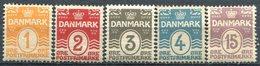 DANEMARK -  Y&T  N° 48-52 * - 1905-12 (Frederik VIII)