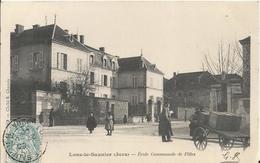 Carte Postale Ancienne De Lons Le Saunier L'école Communale Des Filles - Lons Le Saunier