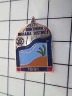 416c Pin's Pins / Beau Et Rare / THEME : AUTRES / DESERT CACTUS Pin's USA NORTHERN INDIANA DISTRICT - Städte