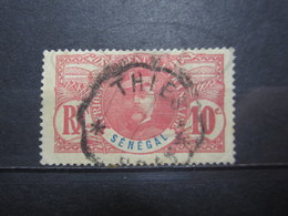 """VEND TIMBRE DU SENEGAL N° 34 , OBLITERATION """" THIES """" !!! - Used Stamps"""