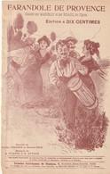 (POUSTHOMIS )FARANDOLE DE PROVENCE , MARCELLY , RIGAUX , Paroles LUCIEN COLONGES , Musique PLANEL - Partitions Musicales Anciennes
