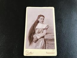 CDV PHOTO Tres Jolie Demoiselle Aux Cheveux Tres Longs - DOTTA - THOISSEY - Anciennes (Av. 1900)