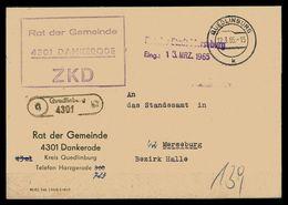 DDR ZKD Dienstbrief 1965 Siehe Beschreibung (205874) - [6] Repubblica Democratica