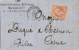 ARDENNES LAC 1863 CHARLEVILLE GC SUR N°23 - 1849-1876: Période Classique