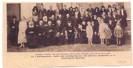 Orig. Knipsel Coupure Magazine - Gouden Bruiloft Echtpaar Merks - Van Poppel Te Gemonde Bij 's Hertogenbosch - 1931 - Oude Documenten