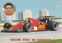 REF.B9 . FORMULE 1 . GRAND PRIX DE MONACO . M . ALBORETO SUR FERRARI - Grand Prix / F1