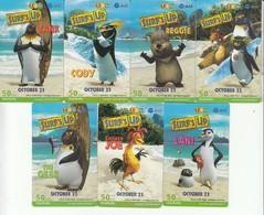 7 X Thailand Phonecard 12Call Movie Film Surf`s Up Pinguin Bird Comic - Film