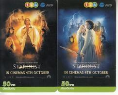 2 X Thailand Phonecard 12Call Movie Film Stardust - Kino