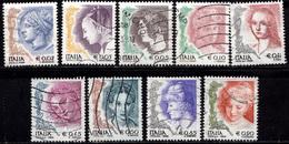 Italia 2003-2004 La Donna Nell'arte 4^ Serie (con S.p.a.), 10 Valori Vedi Descrizione - 6. 1946-.. Repubblica