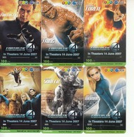 6 X Thailand Phonecard 12Call Movie Film FANTASTIC 4 - Kino