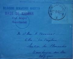 Lettre CONGO Kongo 1960 Cachet Base De KAMINA Etat-major Secrétariat Indépendance Bataillon De Génie Africa Afrique ABL - Non Classés