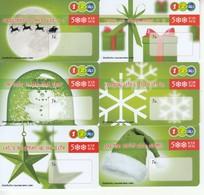 6 X Thailand Phonecard 12Call Weihnachten Merry Christmas - Weihnachten