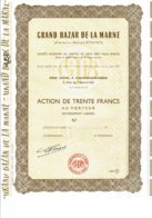 51-GRAND BAZAR DE LA MARNE. Anc Maison PITOISET. CHALONS Sur MARNE. 1963 - Actions & Titres