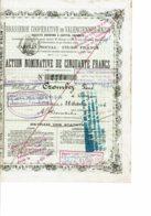 59-BRASSERIE COOPERATIVE DE VALENCIENNES-ANZIN.  ANZIN.  1896 - Andere