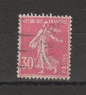 FRANCE / 1924 / Y&T N° 191 : Semeuse Camée 30c Rose - Usuel - Used Stamps