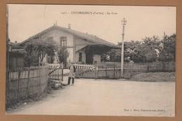 Cpa 72 Coudrecieux  La Gare - France