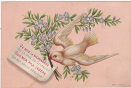 Image Religieuse : Image Pieuse : Je Suis La Messagère...colombe : ( Au Dos - Notre-dame D' Aiguebelle Priez Pour Nous ) - Andachtsbilder