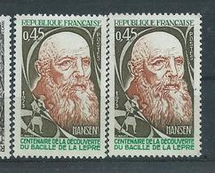 [40] Variété N° 1767 Hansen Bistre-janue Au Lieu De Brun-jaune + Normal ** - Varieties: 1970-79 Mint/hinged