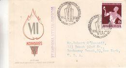 Yougoslavie - Lettre FDC De 1958 - Oblit Ljubljana - Congrès Communistes - Brieven En Documenten