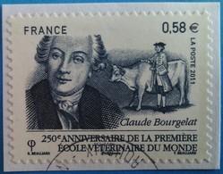 France 2011  : 250e Anniversaire De La Première école Vétérinaire Du Monde à Lyon N° 565 Oblitéré - France