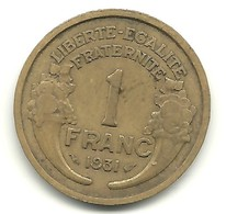 Franc Type Morlon 1931 - France