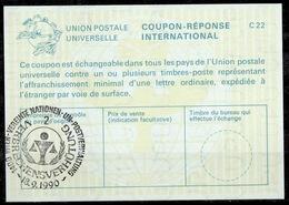 UNITED NATIONS VIENNA VERBRECHENSVERHÜTUNG CRIME PREVENTION Int. Reply Coupon Reponse IRC IAS Antwortschein La25 13.09.9 - Centre International De Vienne