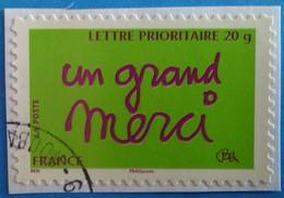 """France 2008  : Timbre De Message """"un Grand Merci"""" N° 205 Oblitéré - France"""