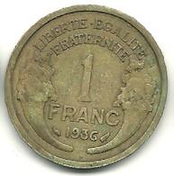 Franc Type Morlon 1936 - France
