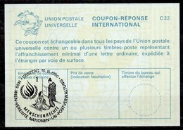 UNITED NATIONS VIENNA MENSCHENRECHTE HUMAN RIGHTS Int. Reply Coupon Reponse IRC IAS Antwortschein La25 o16.11.90 - Centre International De Vienne
