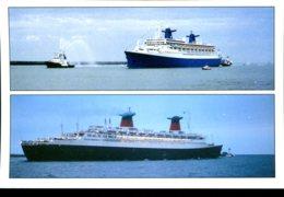 Le Norway Arrivant Au Havre (1997) - France L'une Des Dernières Traversées (1974) - Piroscafi