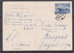Albanie - Carte Postale De 1960 - Exp Vers Beograd - Lénine - - Albania