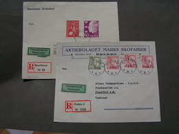 2 Schweden Briefe 1953 - Suède