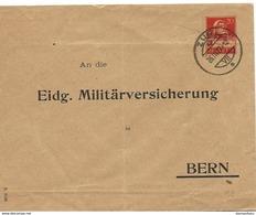 "231 - 60 - Entier Postal Privé ""Eidg. Militärversicherung Bern"" Cachet à Date Zug 1927 - Entiers Postaux"