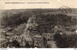 SAINT-RIQUIER  Panorama De La Route D'Abbeville. Cachet Franchise Militaire 1915 - Saint Riquier