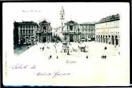 TORINO - Piazza S. Carlo -  Cartolina Postali  Viaggiata. - Piazze