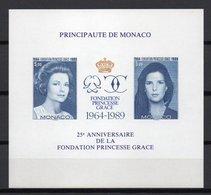 - MONACO Bloc Spécial N° 48a Neuf ** NON DENTELÉ - FONDATION PRINCESSE GRACE KELLY 1989 - - Blokken