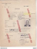 Au Plus Rapide Laissez Passer Algérie France Consul Général France Bône 30 Juin 1963 Pièce D'identité ? Peu Fréquent - Documents Historiques
