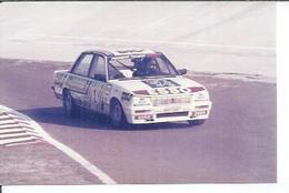 "PHOTO D'ARCHIVES : COURSE AUTOMOBILE - MONTLHERY 1985 -   "" PEUGEOT TURBO "" Pilote: MIGEO - N° 1 - Montlhery"